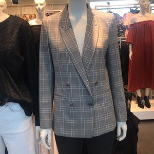 Trendy Suit Jacket Blazer Double Button